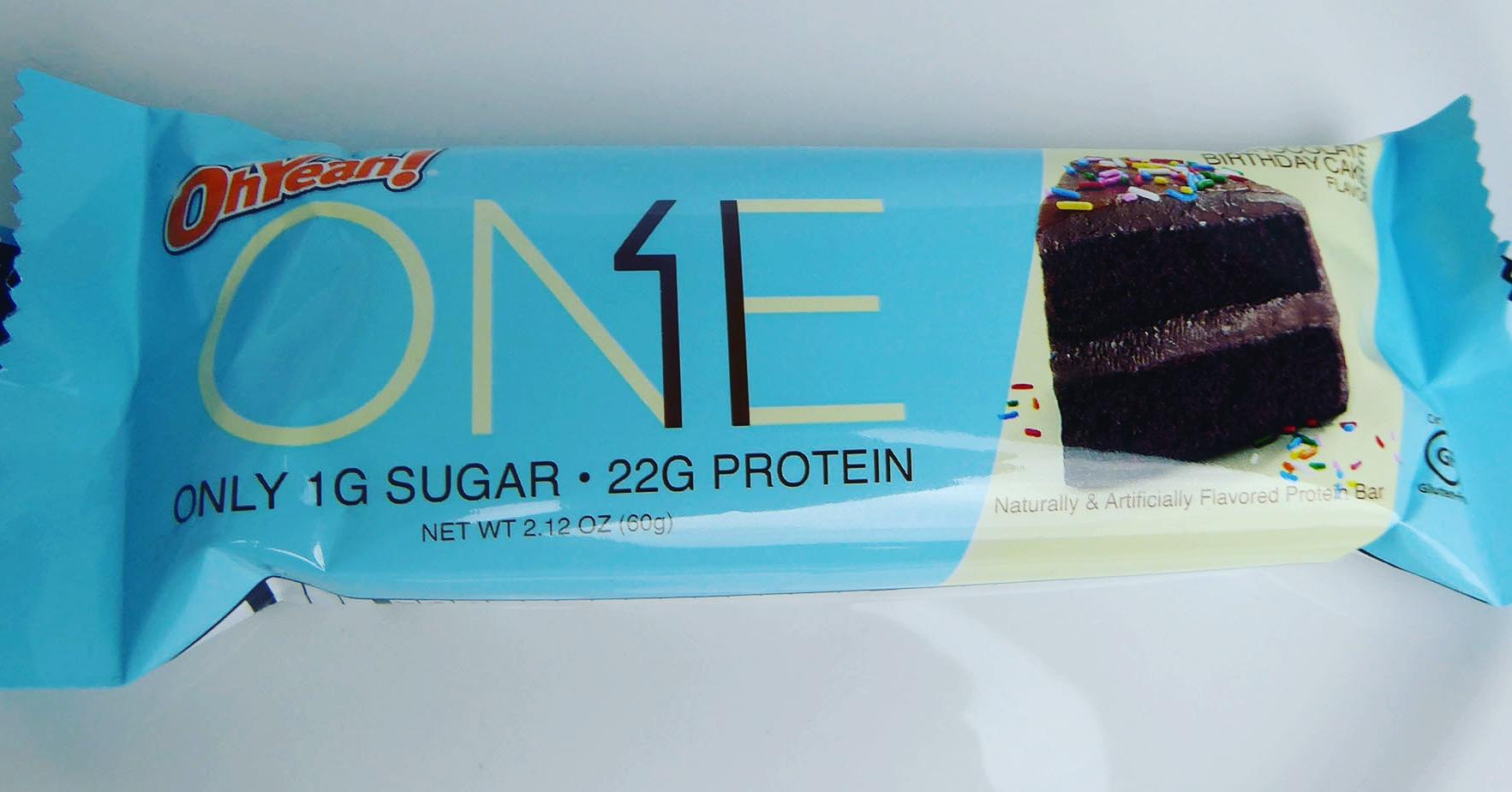 One Chocolate Birthday Cake Protein bar