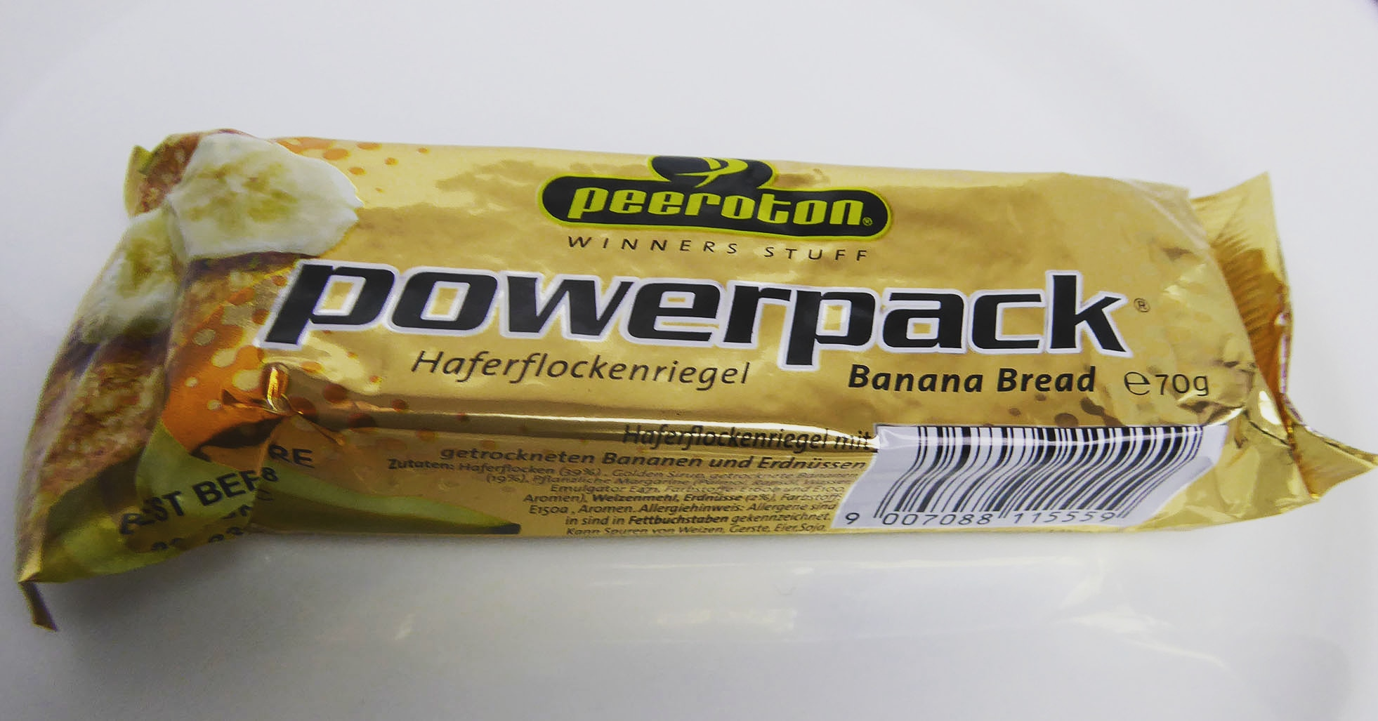 powerpack banana bread bar peeroton