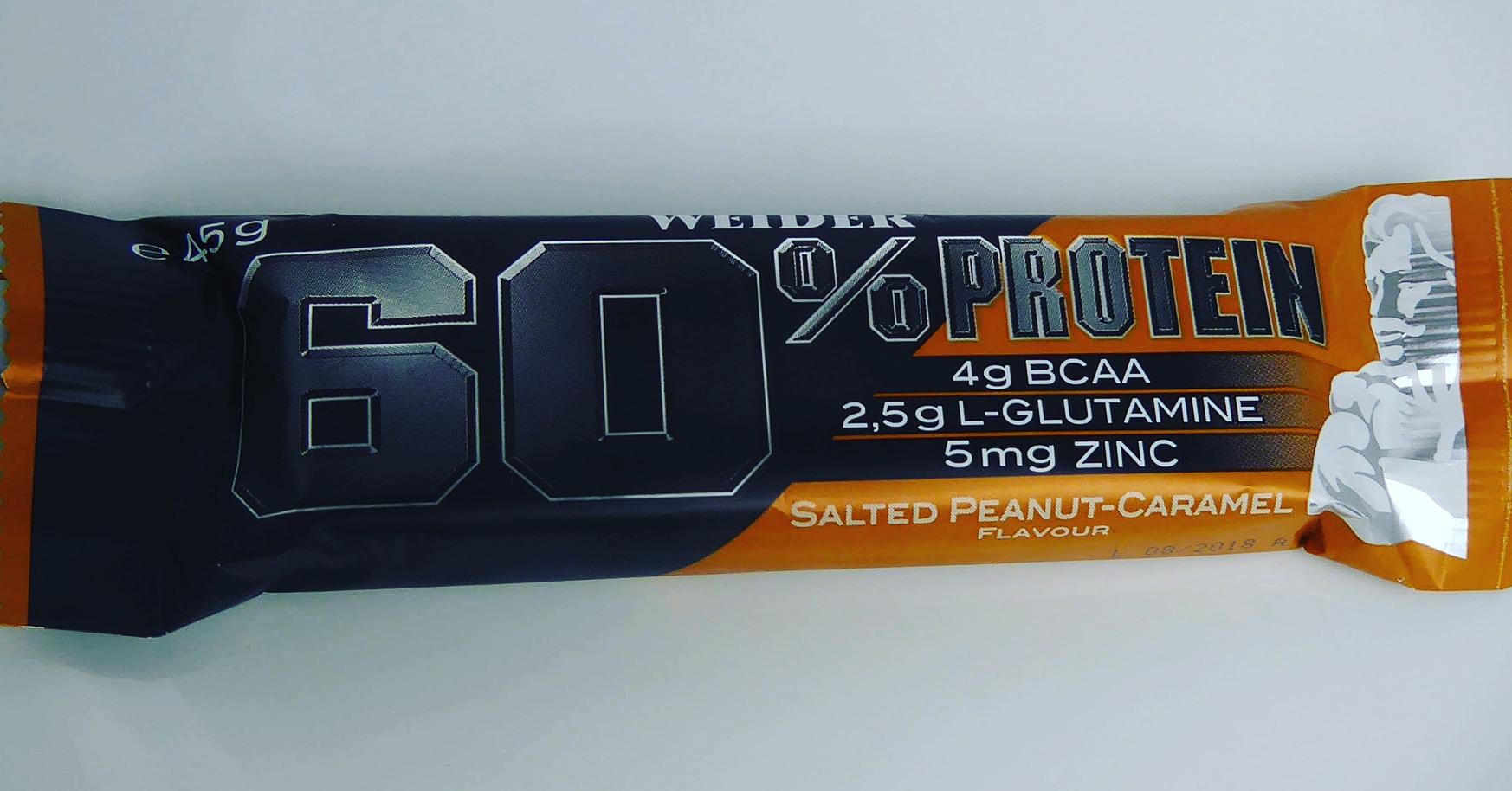 weider salted peanut caramel protein bar