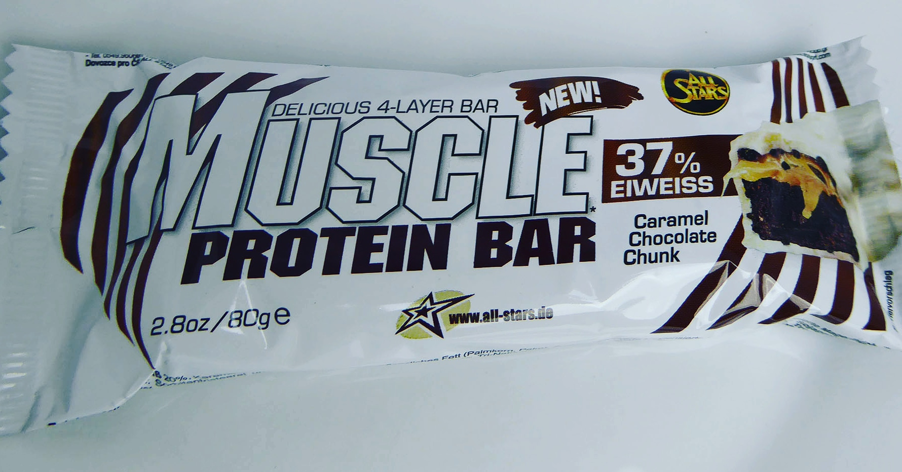 All Stars Muscle Protein Bar Caramel Chocolate Chunk