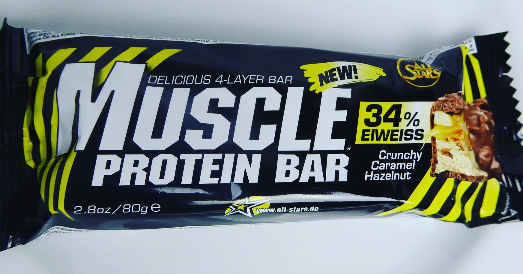 Muscle Protein Bar Crunchy Caramel Hazelnut
