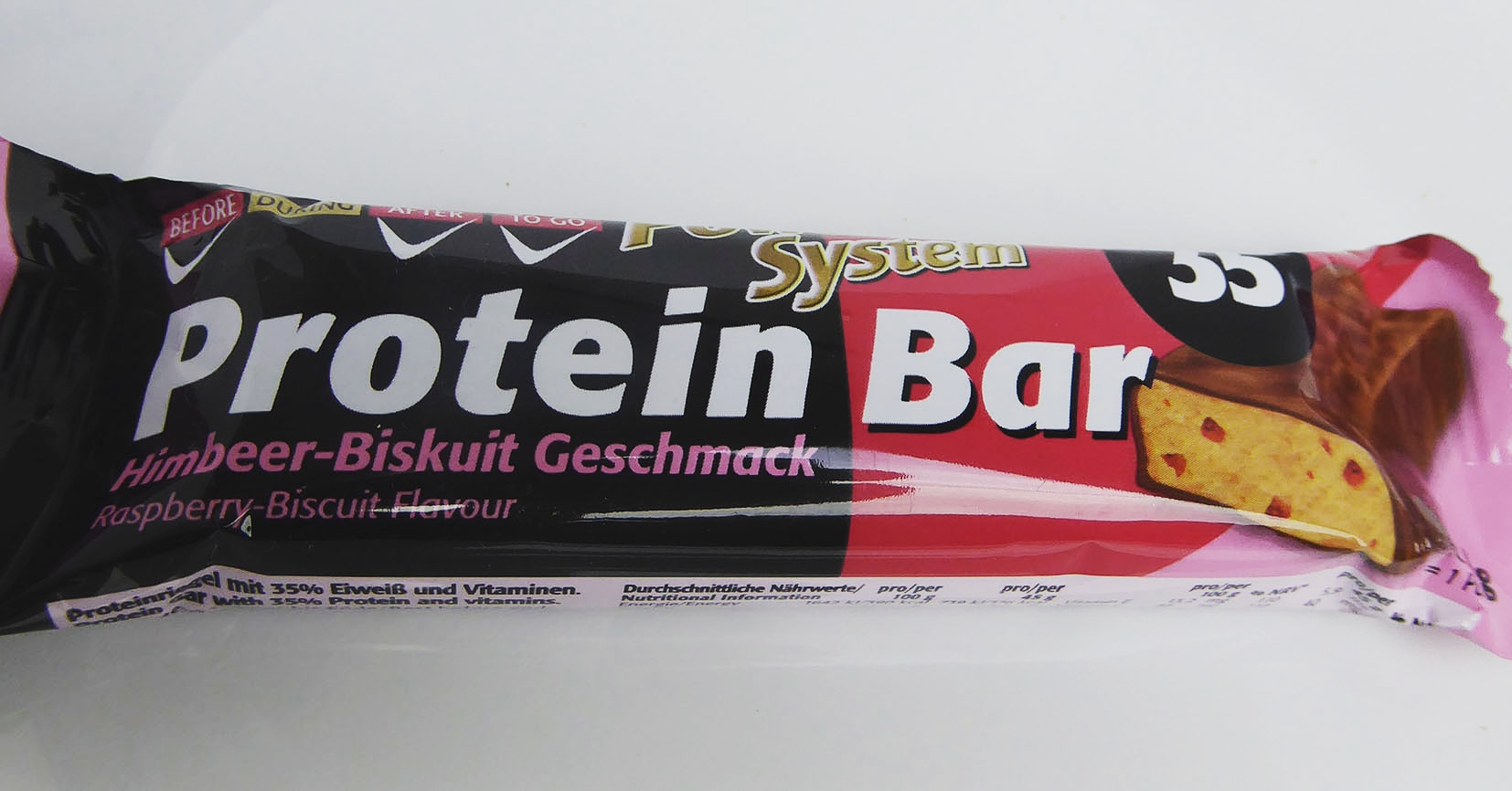 Power System Protein Bar Raspberry Biscuit Flavour
