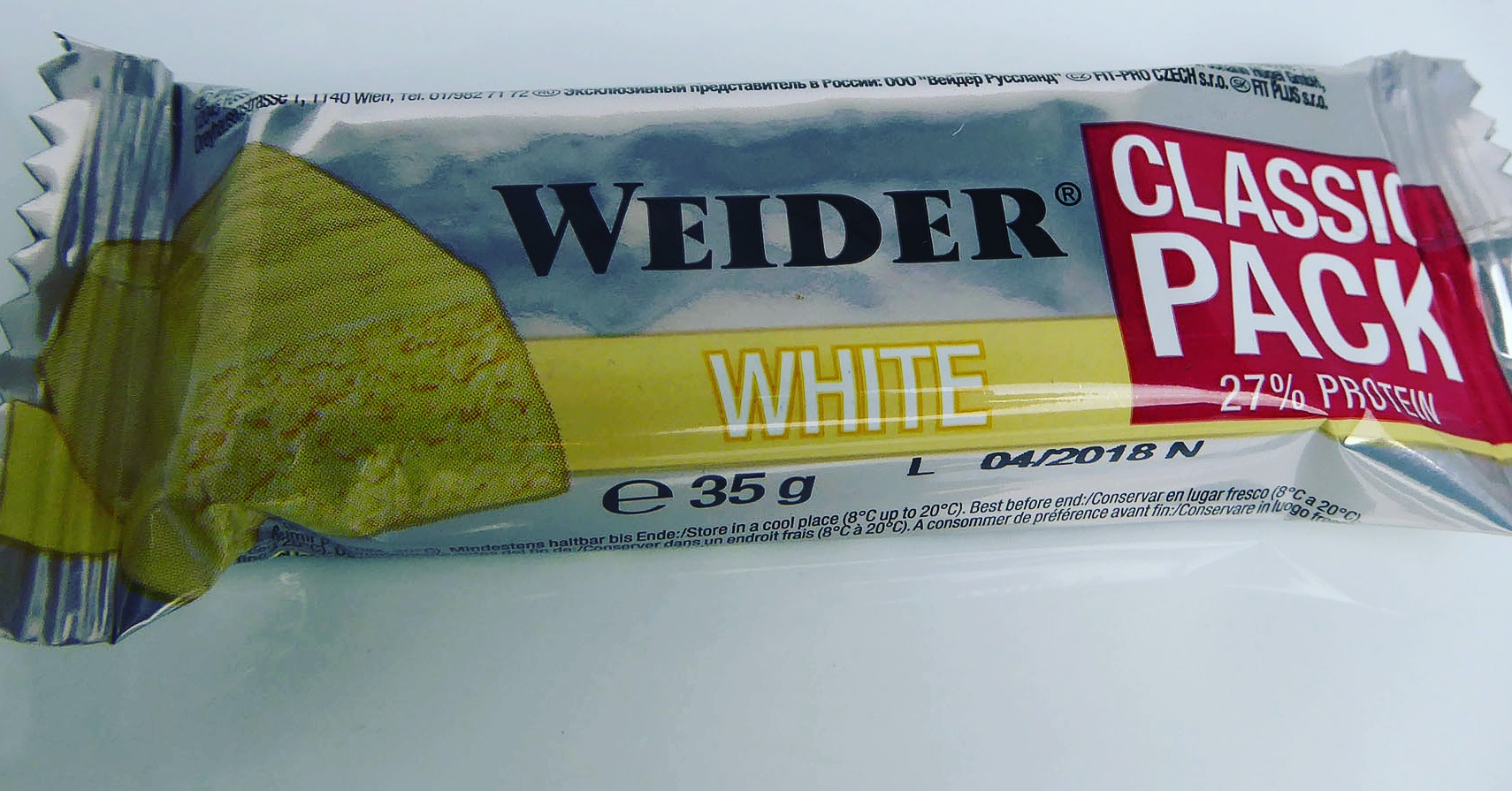 Weider White Classic Pack Protein Bar
