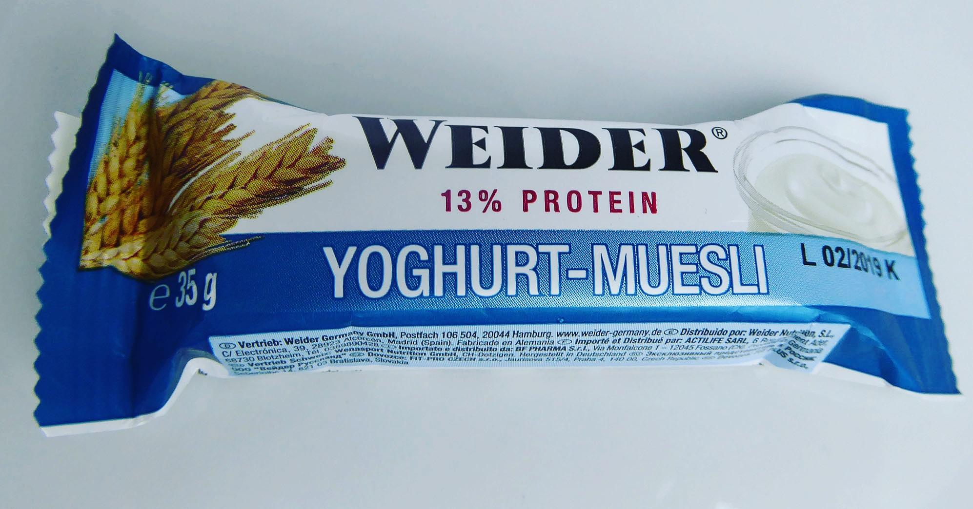 Weider Yoghurt Muesli Protein Bar