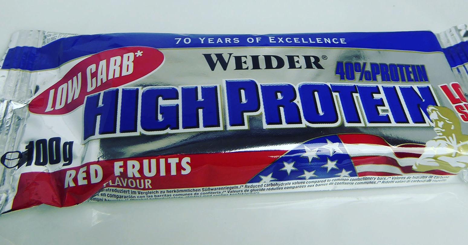 Weider High Protein Bar Low Sugar Red Fruits