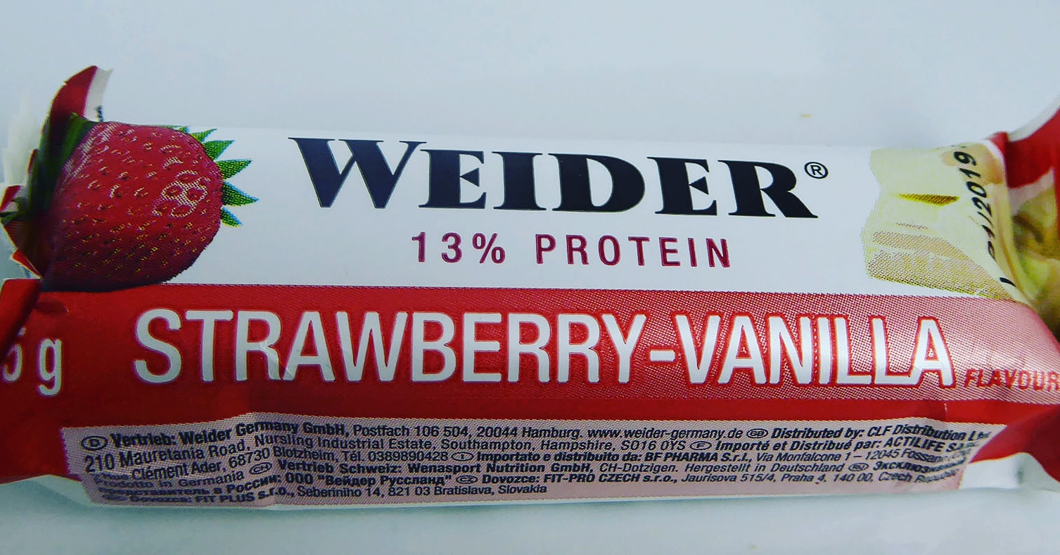 Weider Protein Bar Strawberry Vanilla