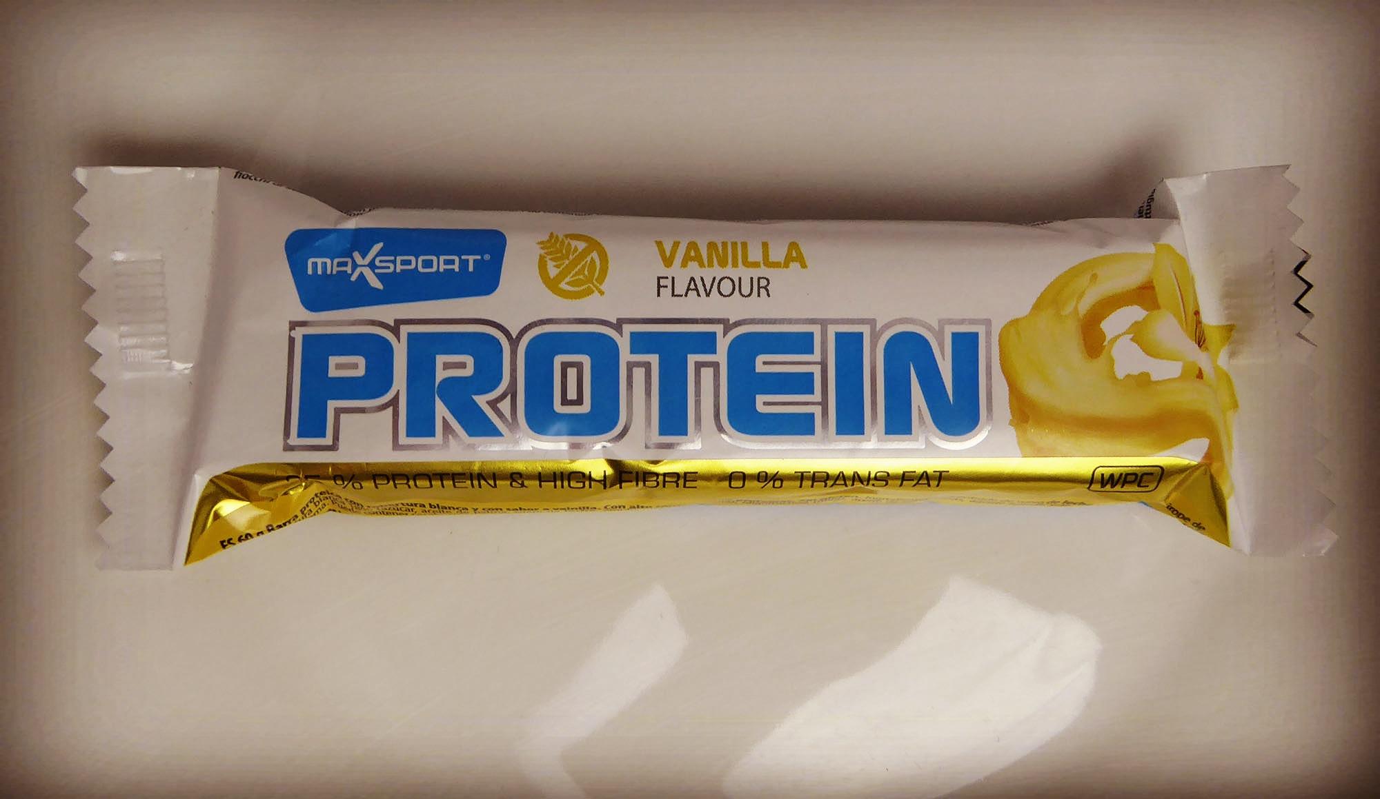 Maxsport Proteinriegel Proteinbar protein Vanilla protein bar